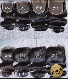 Closure sizes