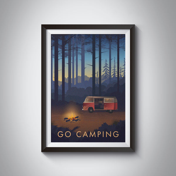 Go Camping Travel Poster