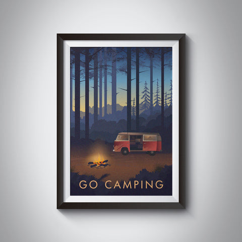 Go Camping Travel Poster-Bucket List Prints