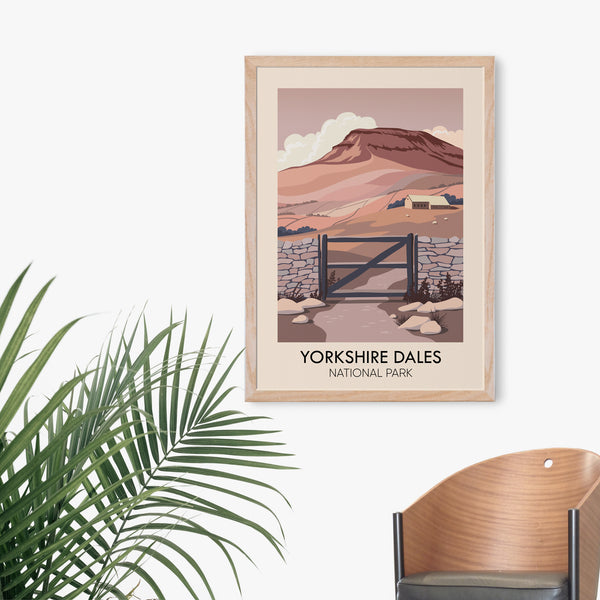 Yorkshire Dales National Park Travel Poster