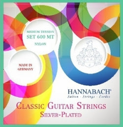 Hannabach Classical Guitar Strings 600 - Silver Plated - Luda Customs