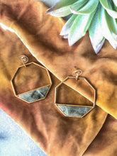 Hexagon Maddie Marble Earrings