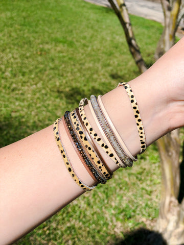 Leopard Hide Layered Bracelet