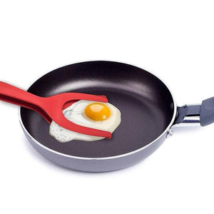 2 In 1 Tongs Grip And Flip Spatula - Perfect Omelet Egg Pancake Tool