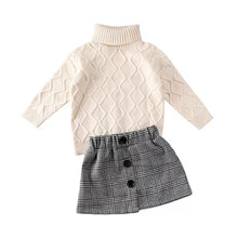 Load image into Gallery viewer, Ready to Ship Turtleneck & Plaid Skirt Set