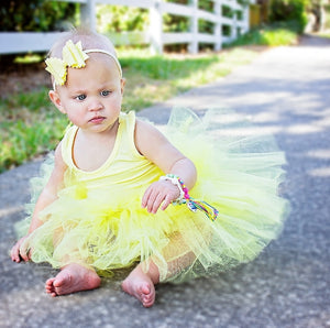 Ready to Ship Pastel Yellow Tutu w/ Snaps