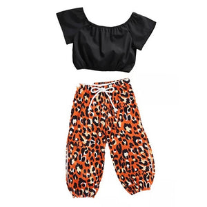 Ready to Ship Leopard Side Split Pants Set