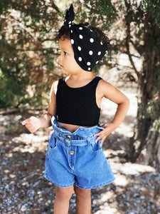 Ready to Ship High Waisted Jean Shorts