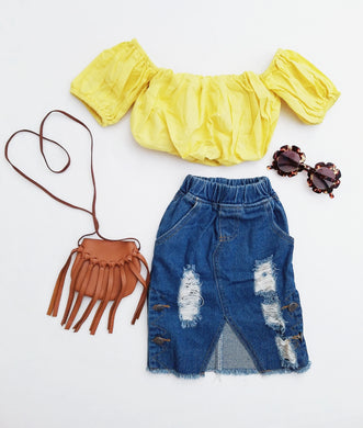 Ready to Ship Jean Skirt