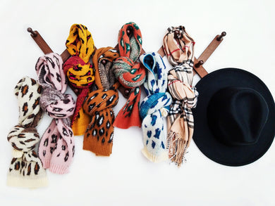 Ready to Ship Leopard Knit Scarves