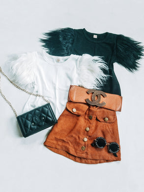 Ready to Ship Feathered Angel Skirt Set