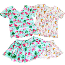 Load image into Gallery viewer, Ready to Ship Watermelon Skirted Bummies Set