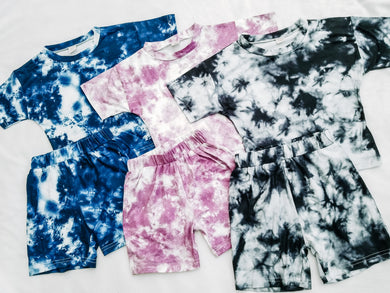 Ready to Ship Purple Tie Dye Set