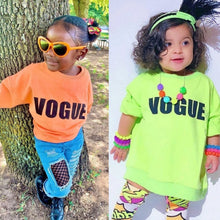 Carregar imagem no visualizador da galeria, Ready to Ship Neon Green Vogue Sweatshirt