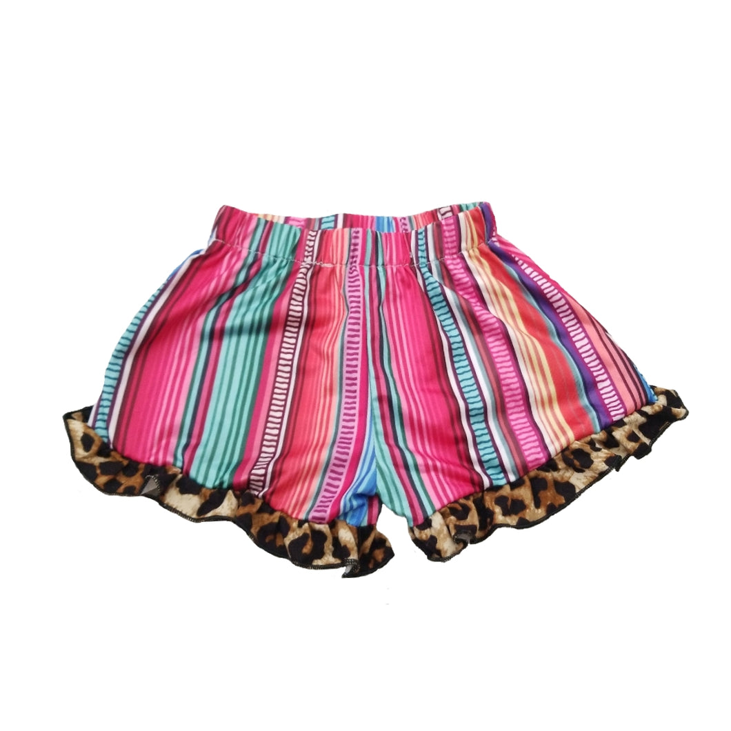 Ready to Ship Serape Ruffle Shorts