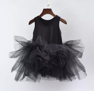 Ready to Ship Black Tutu w/ Snaps
