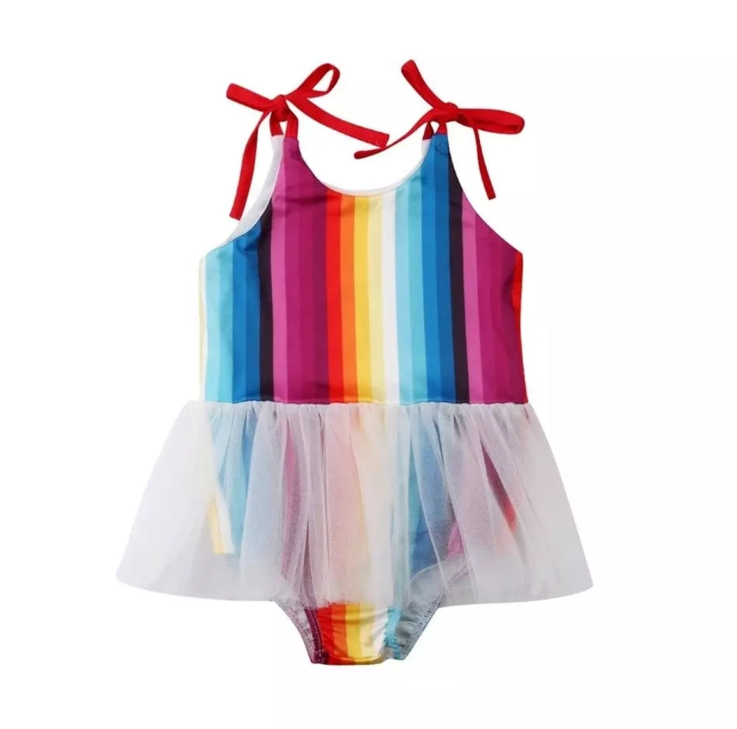 Ready to Ship Rainbow Skirted Leotard