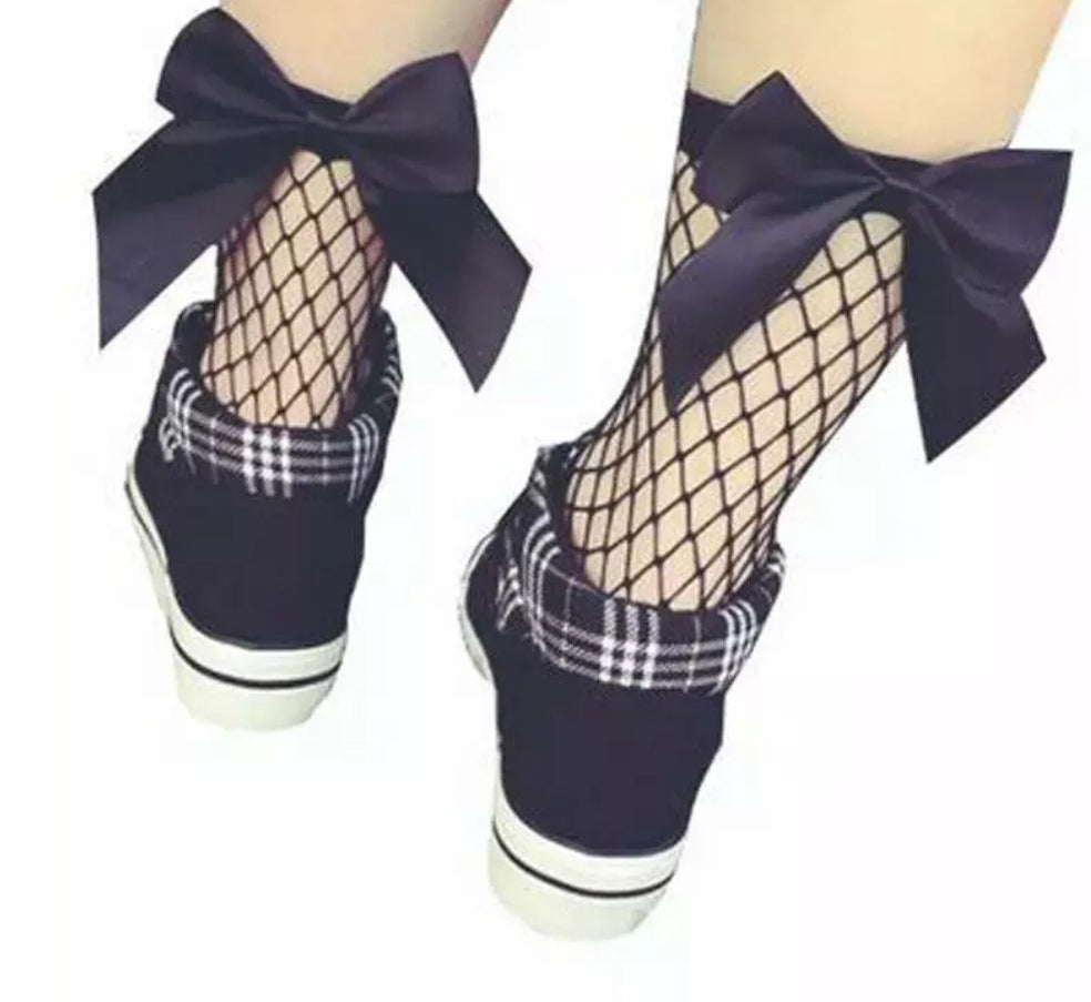 Ready to Ship Fishnets w/ Bow