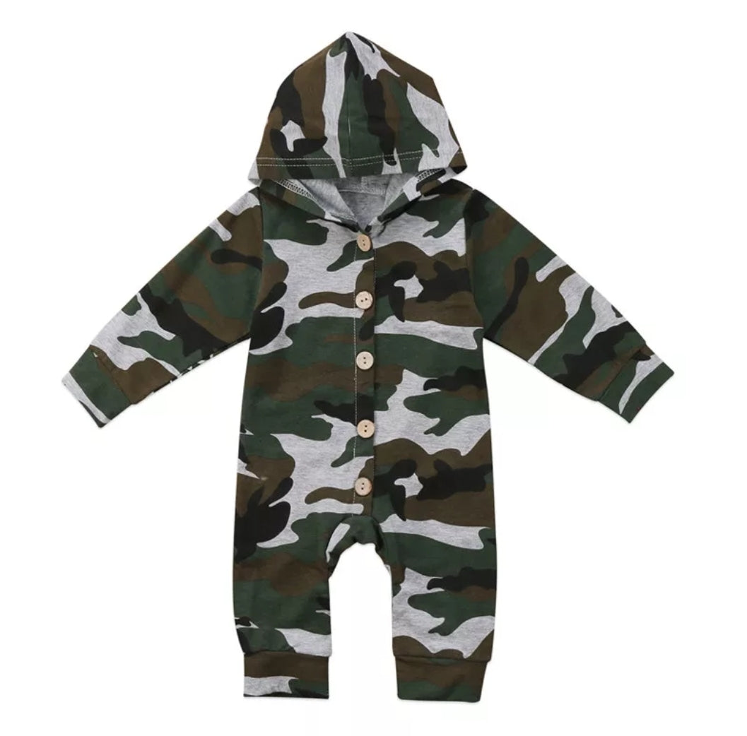 Ready to Ship Camo Hooded Onesie