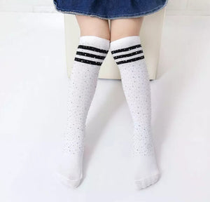 Ready to Ship Rhinestone Knee Highs