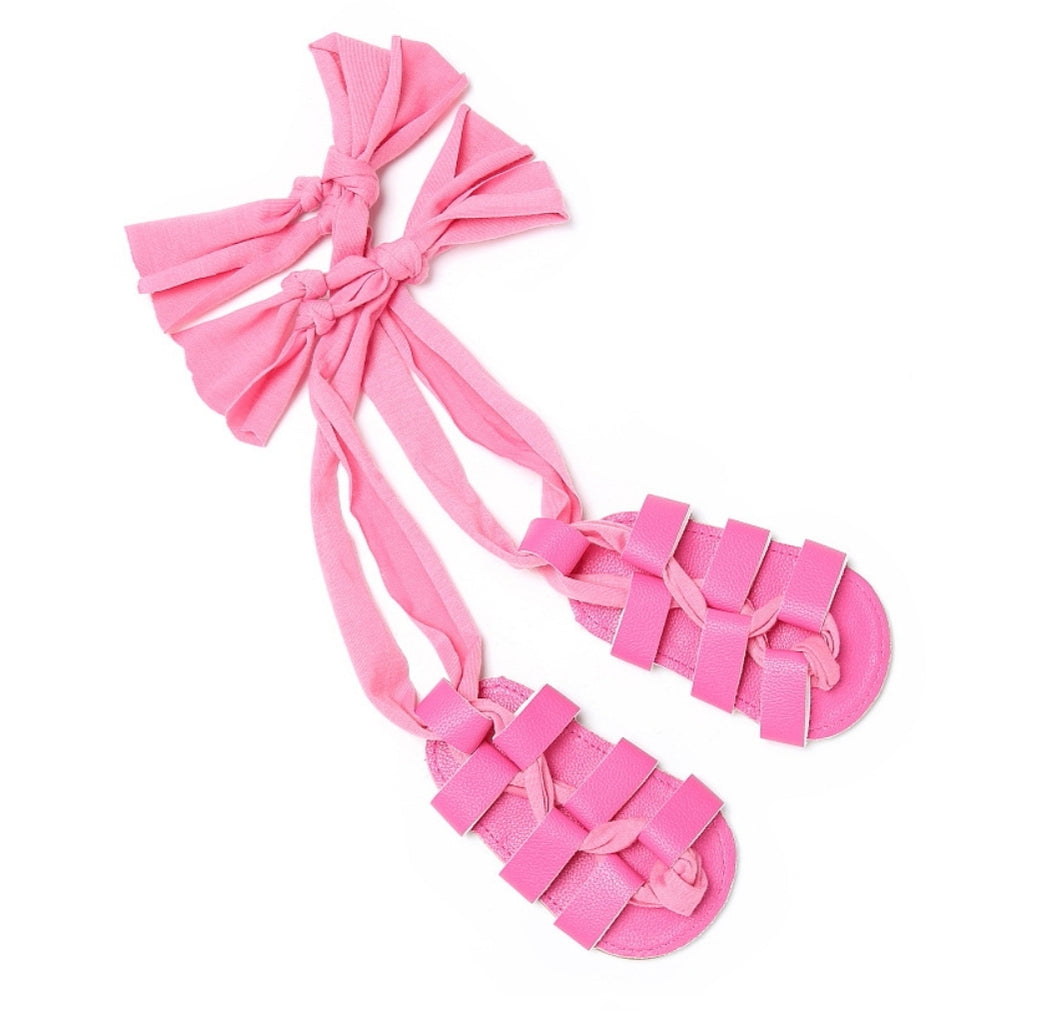 Ready to Ship Pink Gladiator Sandals