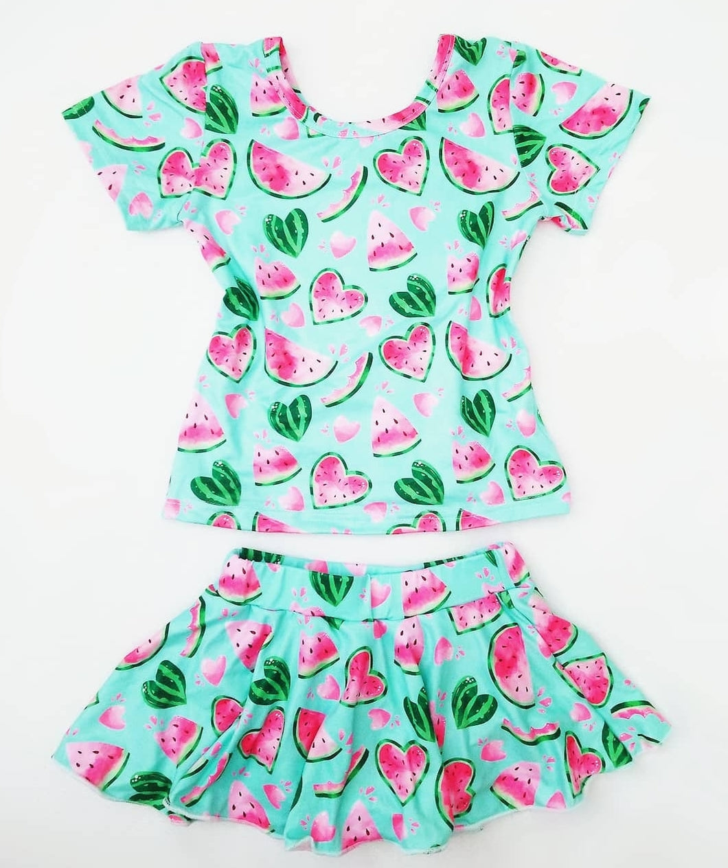 Ready to Ship Watermelon Skirted Bummies Set