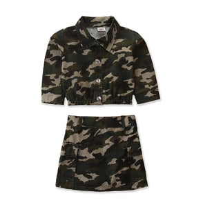 Ready to Ship Camo Skirt Set