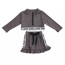 Load image into Gallery viewer, Ready to Ship Long Sleeve Love Skirt Set