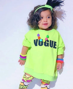 Ready to Ship Neon Green Vogue Sweatshirt
