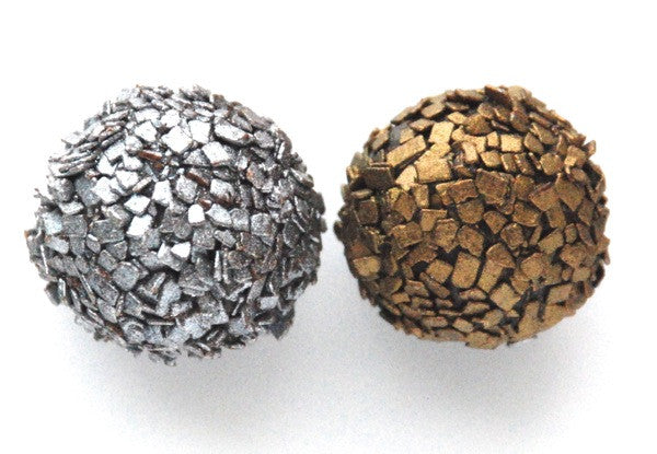 Champagne & Dark Chocolate Truffles: 2 piece favor box