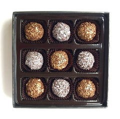 Champagne & Dark Chocolate Truffles: 9 piece Gift Box