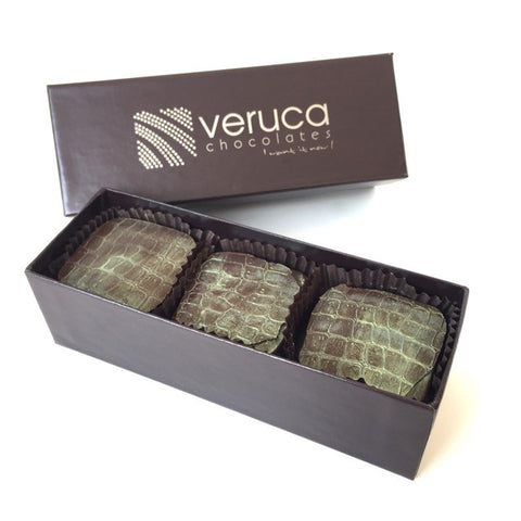 Veruca Dark Chocolate Signature Turtles 6 piece box