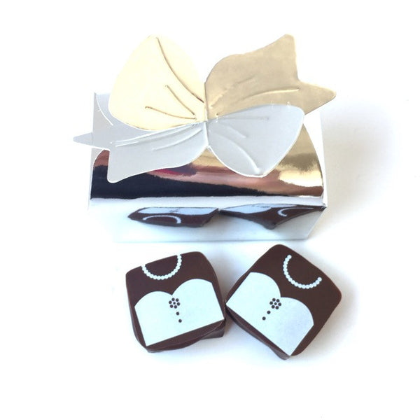 Dress and Tuxedo: 2 piece Wedding Favor Box