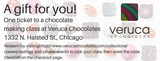 GIFT CERTIFICATE: Chocolate Making Class ticket for one