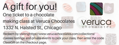 GIFT CERTIFICATE: Chocolate Making Class ticket