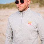 Sweat Zippé Morgevnid Gris Granit
