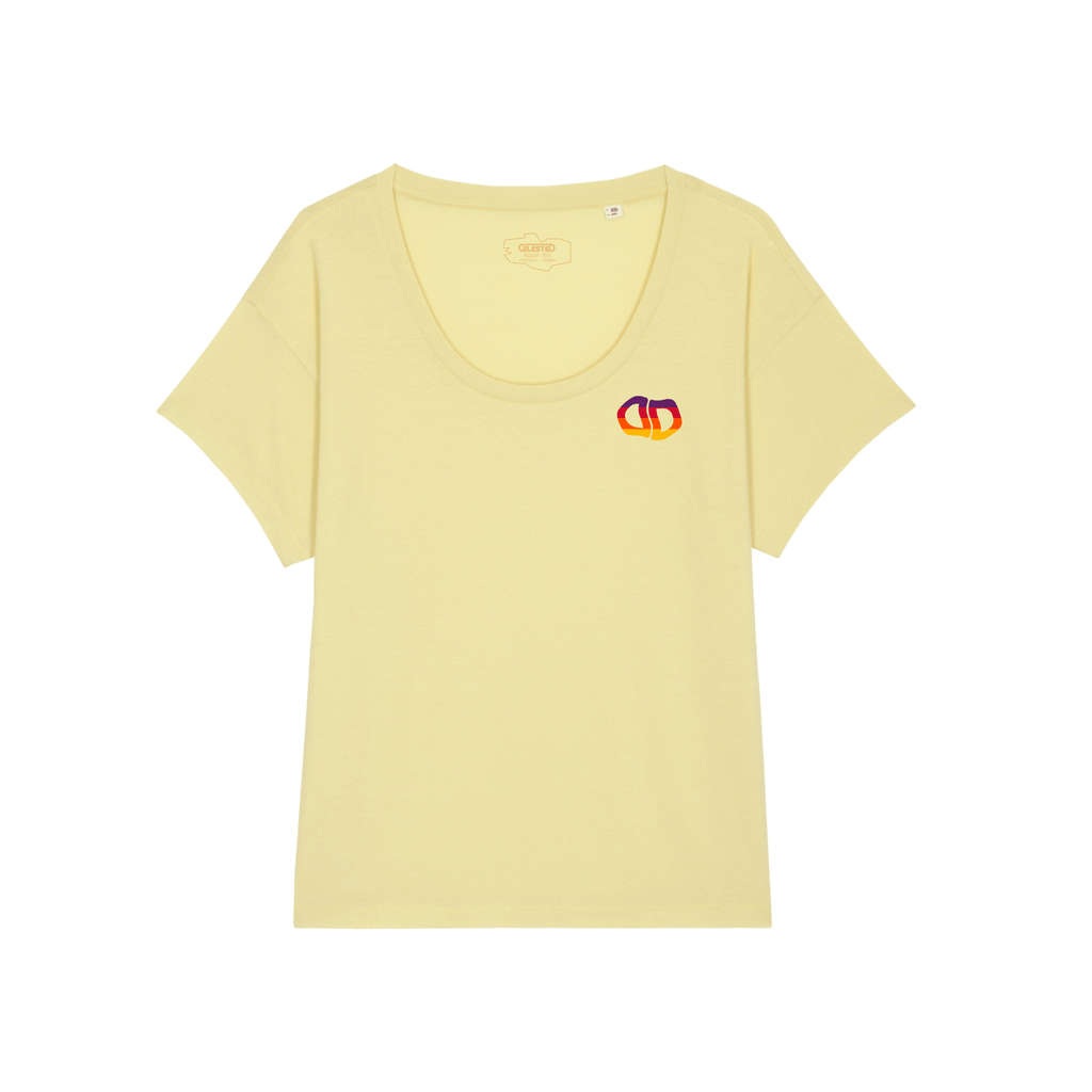 T-shirt Loose Aqua Brodé Jaune Chiné - DILESTED