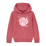 Mini Hoodie Morgazh Framboise Chiné - DILESTED