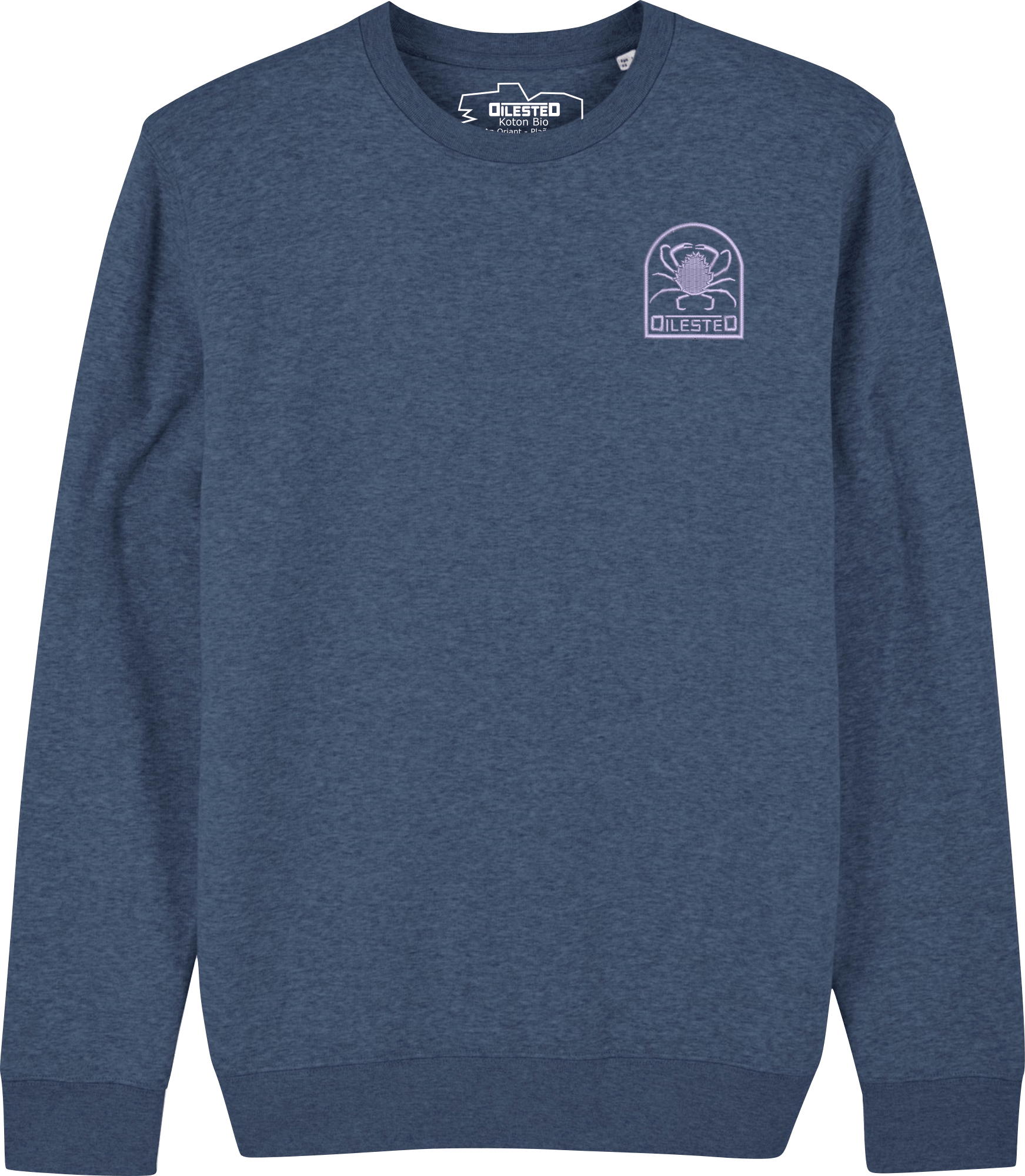 Sweat Morgevnid Brodé Bleu Chiné - DILESTED