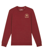 Sweat Morgevnid Brodé Bordeaux Chiné - DILESTED