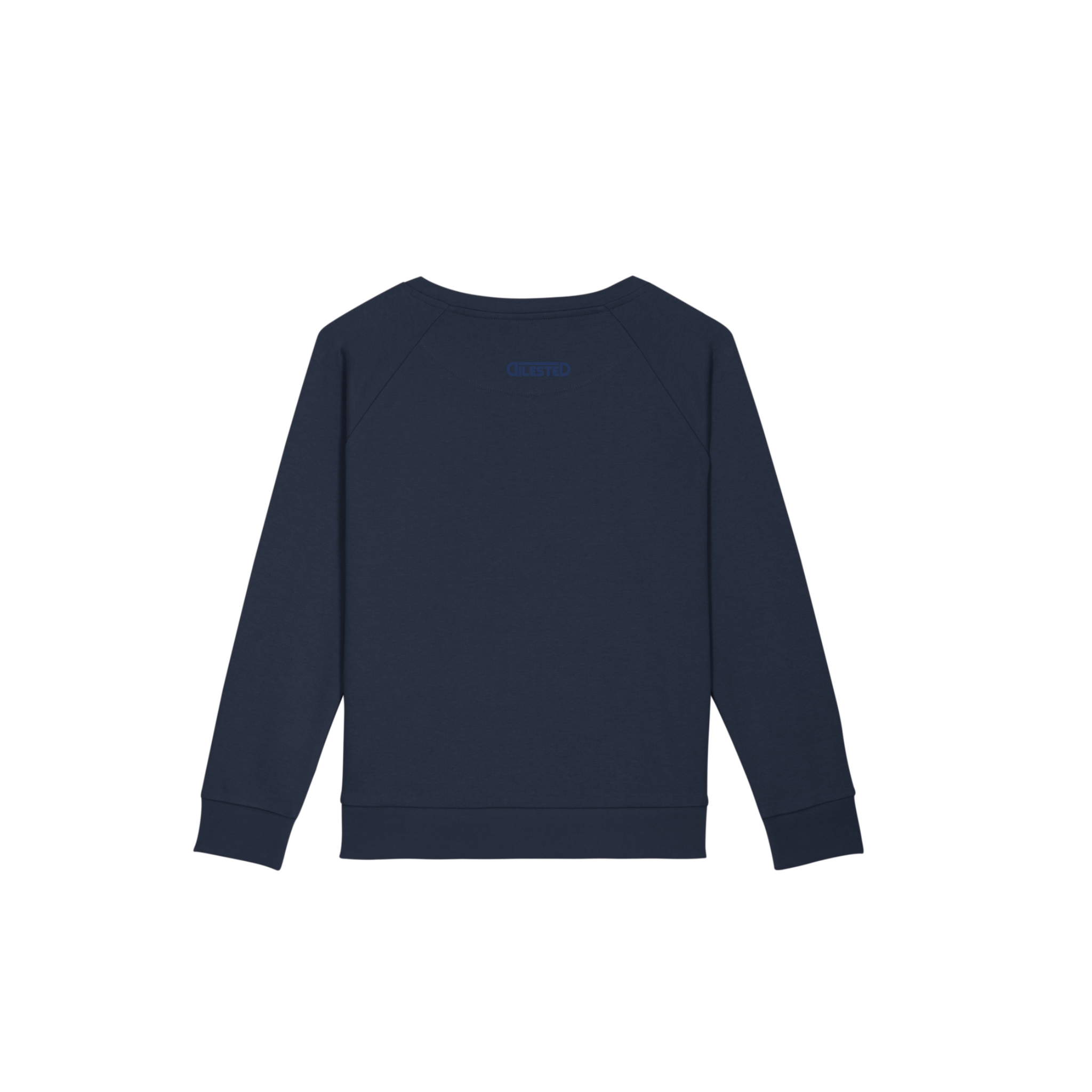 Sweat Loose Hippocampe Bleu Brodé - DILESTED