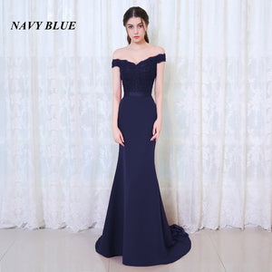 BEPEITHY Robe De Soiree Mermaid Burgundry Long Evening Dress Party Elegant Vestido De Festa Long Prom Gown 2019 With Belt