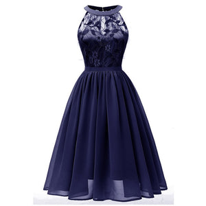 fashion high quality evening Dress 2019 elegant Design short Length Chiffon formal dress Lace Formal evening gown party dresses