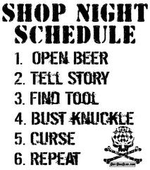 BNS5 - Shop Night Schedule
