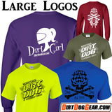 "Dirt Girl® Shirt #22 Raglan: ""Racer Butts"""