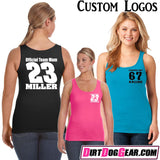 "Dirt Girl® Shirt #19 Tank Top: ""Say Girls Can't Race"""