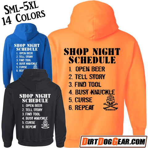 "Bones Hoodie #5: ""Shop Night Schedule"""