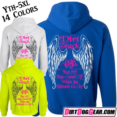 "Dirt Girl® Hoodie #6: ""Dirt Track Angel"""