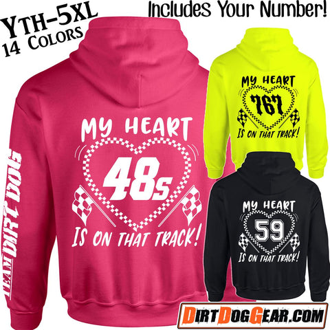 "Dirt Girl® Hoodie #23: ""My Heart"" Custom Print"
