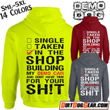 "Demo Dog Hoodie #5: ""In the Shop"""